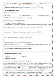 English Worksheet: 1st form Mid term test3