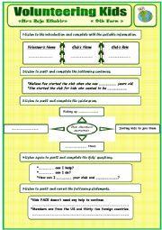 English Worksheet: Volunteering Kids - 9th form