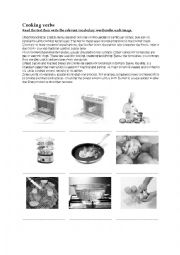 English Worksheet: The cooking verbs