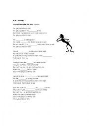 English Worksheet: i´ve got you under my skin