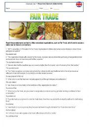 Reported Speech statements - Fair Trade