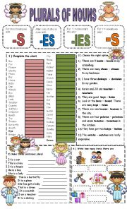 English Worksheet: plural nouns - easy
