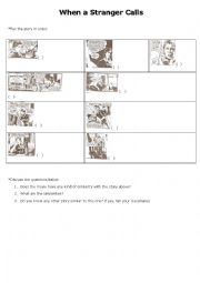 english worksheets when a stranger calls part 1. Black Bedroom Furniture Sets. Home Design Ideas