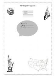 English Worksheet: My English Copybook ( American version)