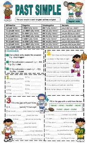 English Worksheet: past simple- regular verbs