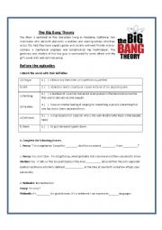 English Worksheet: The BIg Bang Theory Episodes 1 and 2