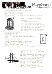 English Worksheet: Jayesslee - Payphone (Maroon 5 Cover) Listening activity & questions w/ Answer Sheet