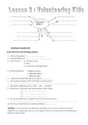 English Worksheet: Volunteering Kids Lesson Plan