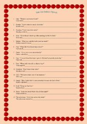 English Worksheet: Indirect Speech: Statements, Questions and Commands