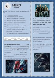 English Worksheet: Song Hero Nickelback