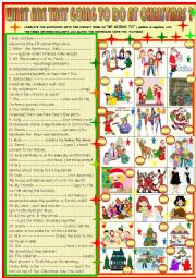 English Worksheet: What are they going to do at Christmas time?
