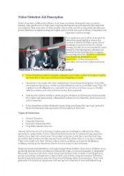 English Worksheet: DETECTIVE POLICE