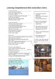 Ellis Island (Listening Comprehension + Discussion of Content