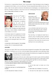 English worksheets: The Script: Biography + song ´Superheroes´