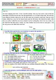 English Worksheet: 8th formers, Test 2. .Tunisia