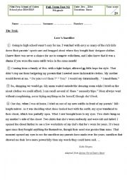 English Worksheet: 9th Grade End of term test1