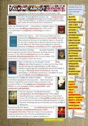 English worksheet: Talking about Books - Useful Language