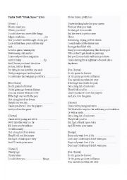 Taylor swift blank space here s a worksheets for taylor swift s latest