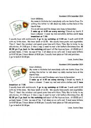 English Worksheet: A letter from Santa
