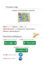 English Worksheet: Treasure map