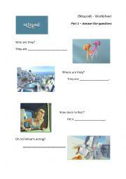 Pixar Oktapodi worksheet
