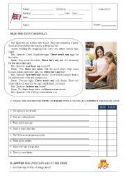 English Worksheet: TEST 6th. Form