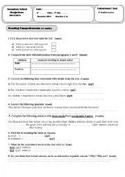 A 4th form End of term1 Test Dec 2014