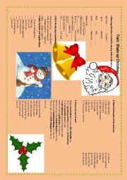 English Worksheet: Christmas listening activity - Train - Shake up Christmas