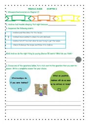 Worksheet Freckle Juice Worksheets english worksheets freckle juice chapter 2 worksheet 2