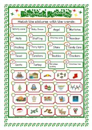 English Worksheet: *** Christmas Vocabulary***