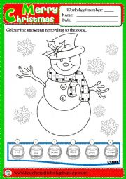 Christmas Colouring Worksheet