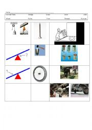 simple machine vocab