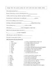 English Worksheet: cooking vocabulary exercises