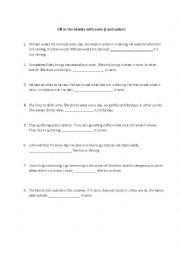 English Worksheet: Fill in the blanks with even if and unless