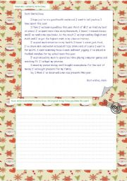 English Worksheet: Present Perfect. A letter to Santa Clause