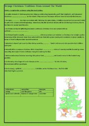 English Worksheet: Strange Christmas traditions.