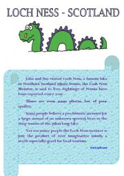 English Worksheet: Loch Ness - Scotland