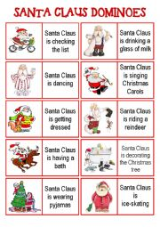 SANTA CLAUS DOMINOES