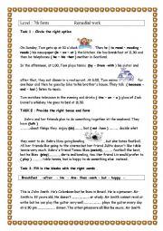 English Worksheet: Remedial work / test correction