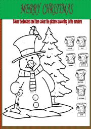 Merry Christmas colouring worksheet