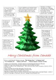 English Worksheet: Merry Christmas from Canada