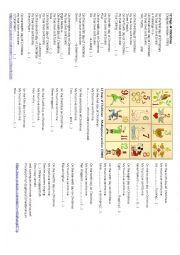 English Worksheet: 12 Days of Christmas - many versions