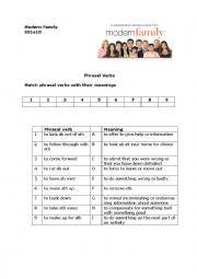 Modern Family Christmas episode - phrasal verbs practice