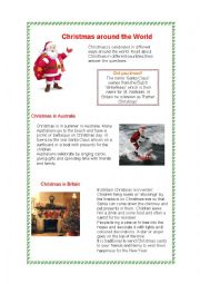 English Worksheet: Christmas Around the World