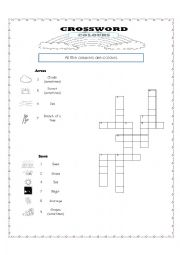 English Worksheet: crossword: colours