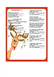 English Worksheet: Jingle bells, jingle bells (jingle all the way)