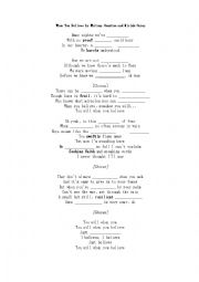 English Worksheet: When You Believe-Song by Whitney Houston Vocabulary and Adverb Clauses