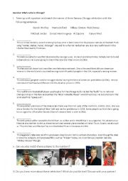 English Worksheet: Celebrities from Chicago