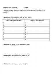 english worksheets animal adaptation fact sheet. Black Bedroom Furniture Sets. Home Design Ideas