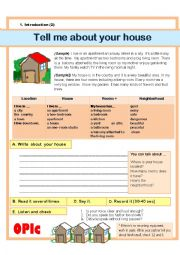 (Guided Writing) Describing your house/room (Basic)
